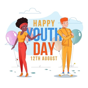 Flat design background youth day
