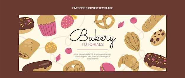 Copertina facebook per panetteria dal design piatto