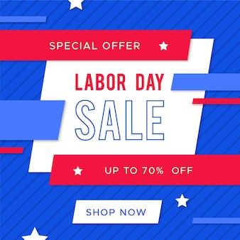 フラットなデザインのバナー労働者の日セール