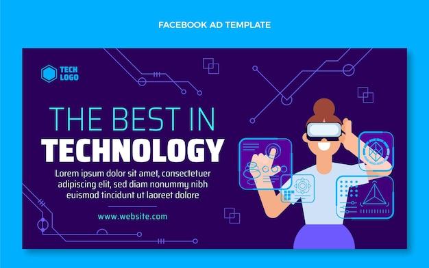 Flat design best in technology facebook