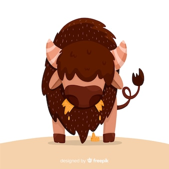 Flat design big buffalo