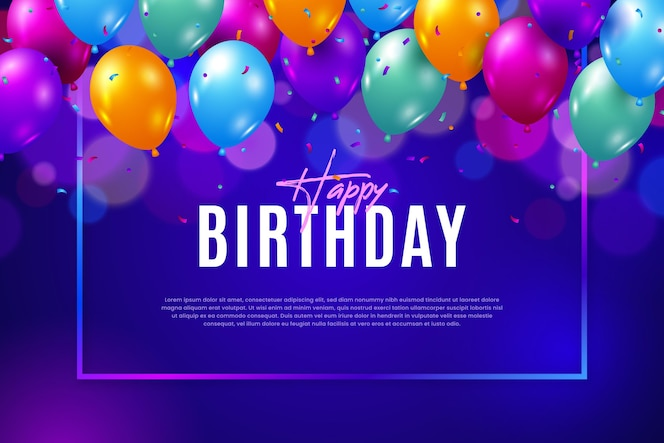 Flat design birthday background