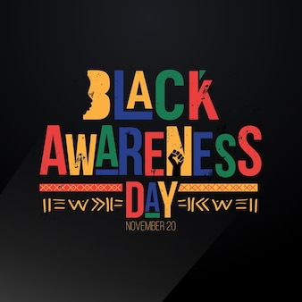 Flat design black awareness day