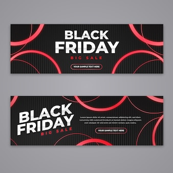 Flat design black friday banners collection