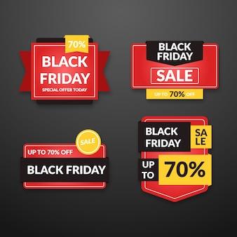 Flat design black friday banners