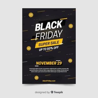 Flat design black friday flyer template