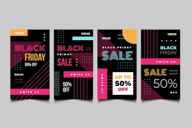 フラットデザインブラックフライデーinstagramストーリー