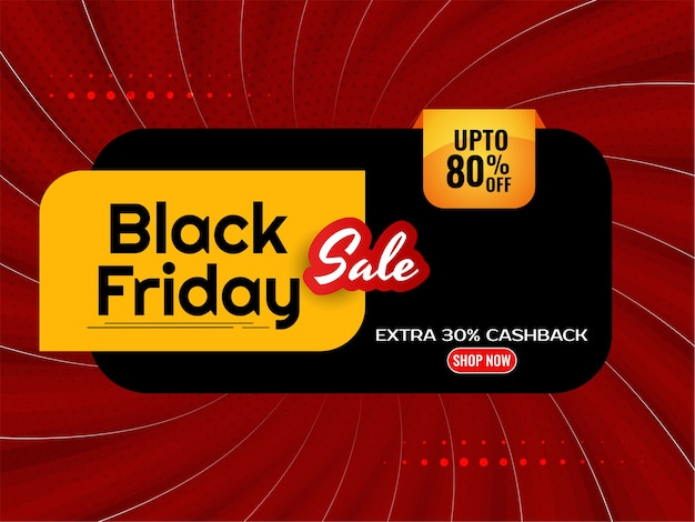Flat design black friday mega offer comic background