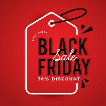 Flat design black friday promo banner