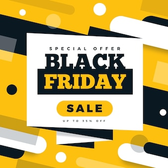 Flat design black friday sale