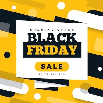 Vendita venerdì nero design piatto