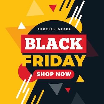 Flat design black friday special offer