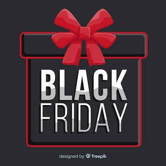 Flat design of black friday
