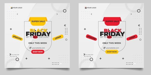 Flat design black friday