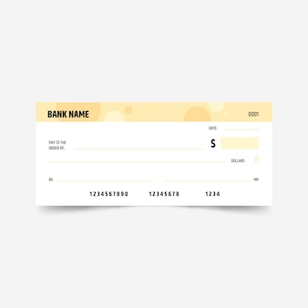 Flat design blank check template
