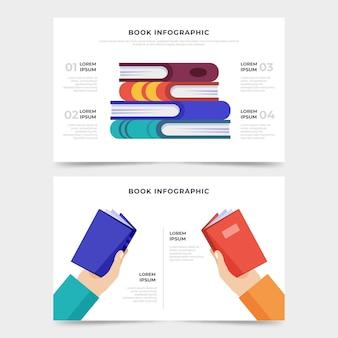 フラットなデザイン本のインフォグラフィック