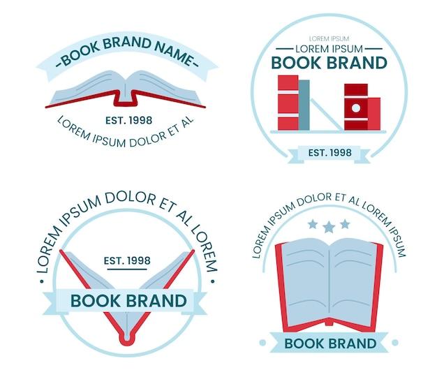 평면 디자인 책 로고 컬렉션