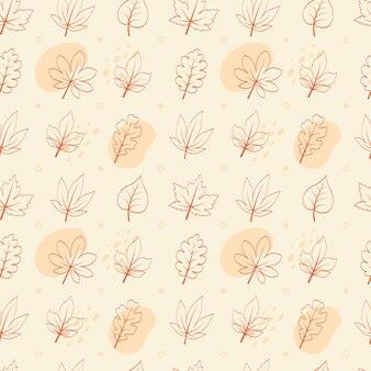 Flat design botanical pattern