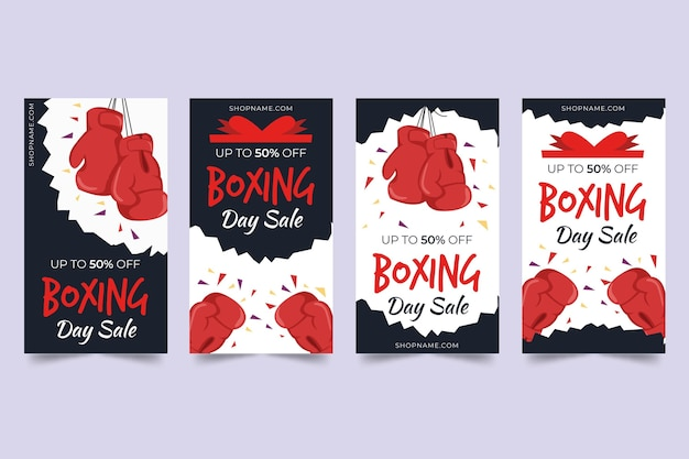 Flat design boxing day sale banner