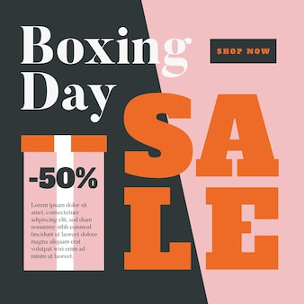 Плоский дизайн промо-акции ко дню бокса