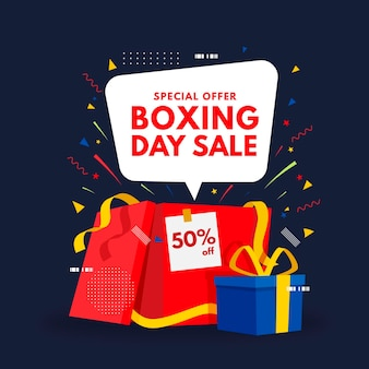 Flat design boxing day sale