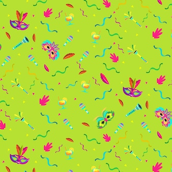 Flat design brazilian carnival pattern festive theme