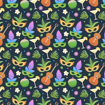 Flat design brazilian carnival pattern