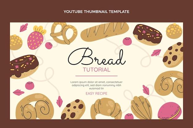 Tutorial per il pane dal design piatto miniatura di youtube