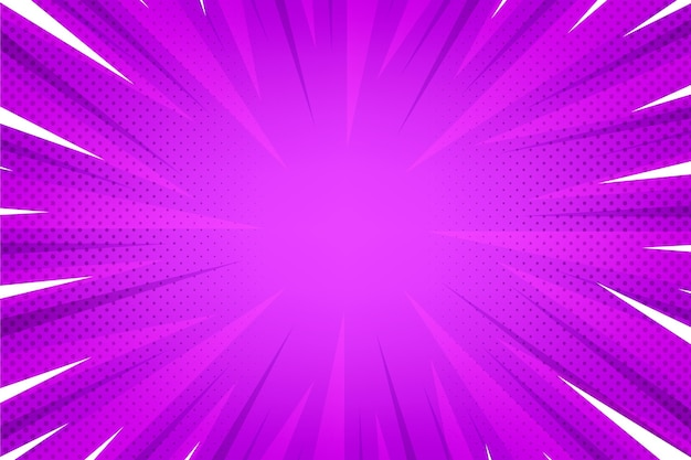 Flat design bright comics background