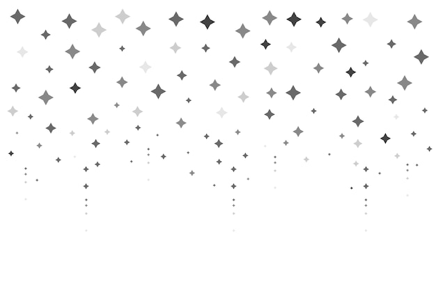 Flat design bright stars background