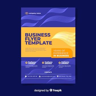 Flat design business flyer template