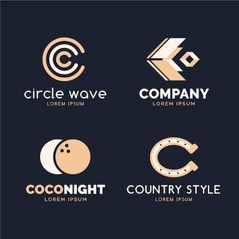 Flat design c logo collection