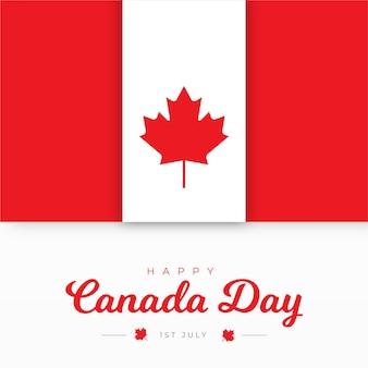 평면 디자인 캐나다 하루 배경