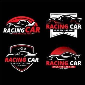Плоский дизайн логотипа автомобиля в эффекте нуара