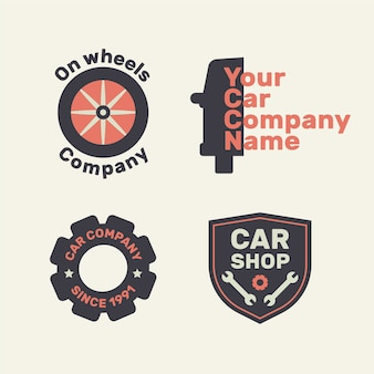 Flat design car shop ремонтная коллекция