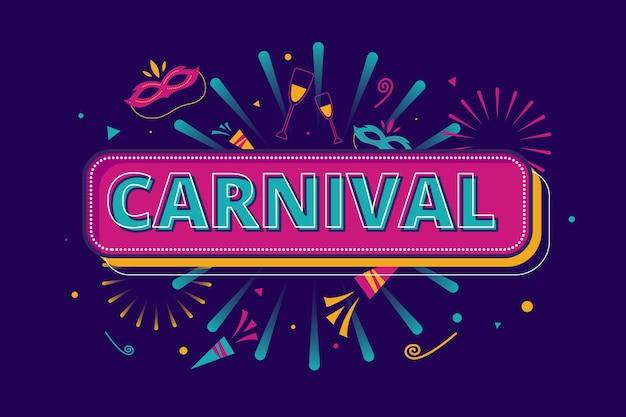 Flat design carnival concept