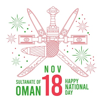Flat design celebrating day of oman