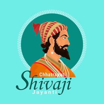Flat design of chhatrapati shivaji jayanti