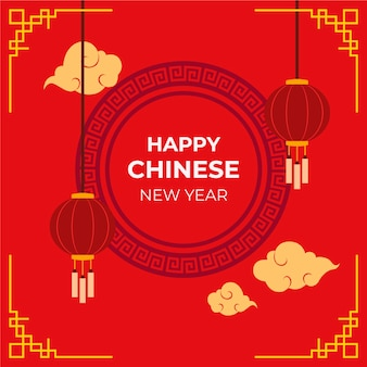 Flat design chinese new year