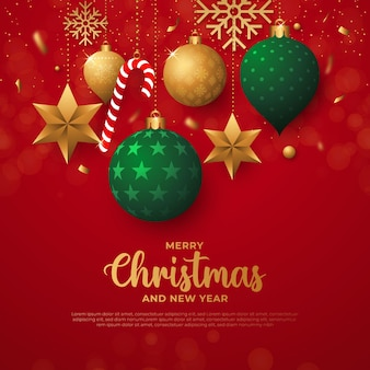 Flat design christmas background