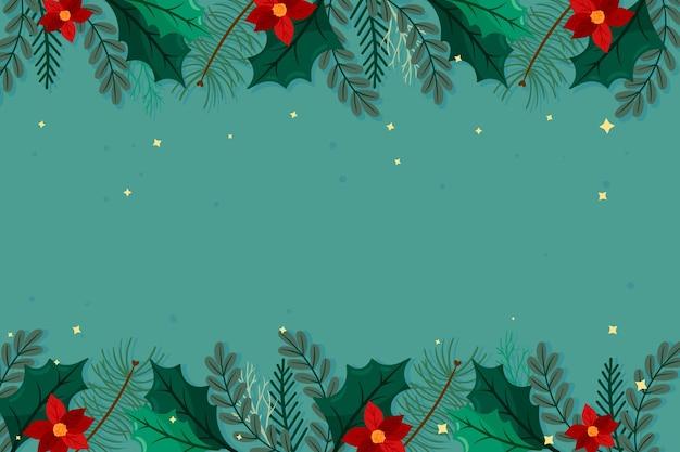 평면 디자인 크리스마스 배경