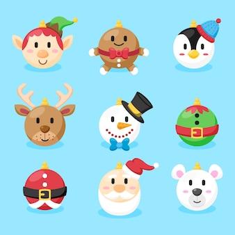 Рождественский бал в плоском дизайне