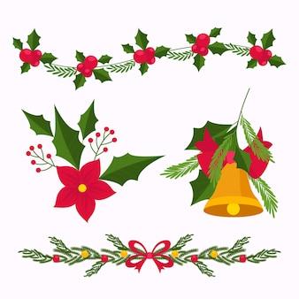 Decorazione natalizia design piatto