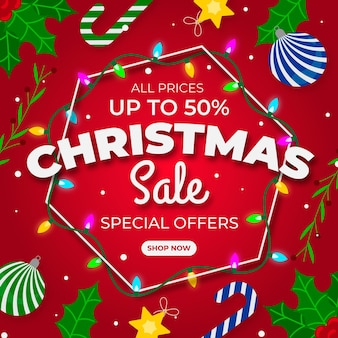 Flat design christmas sale