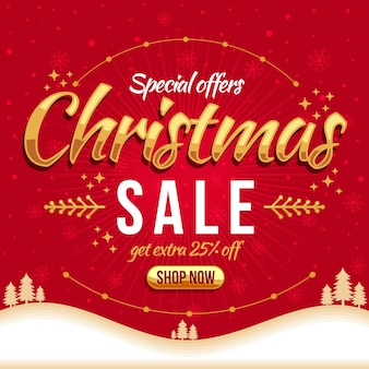 Flat design christmas sale