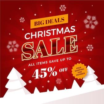 평면 디자인 크리스마스 판매