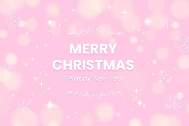 Flat design christmas sparkling background