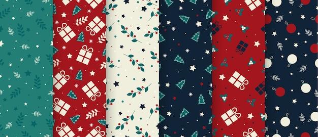 Рождественский набор плоских шаблонов