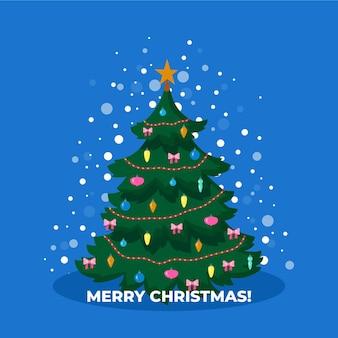 Flat design christmas tree