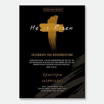 Volantino chiesa design piatto pronto per la stampa